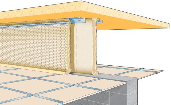 Fire Barrier Install : Fire barriers manchester gridpart interiors